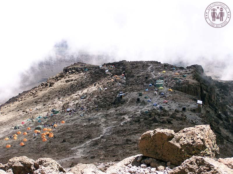 Das Barafu Camp am Kilimanjaro.