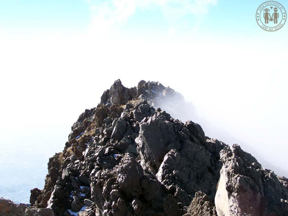 Kurz vor dem Gipfel des Mount Meru.