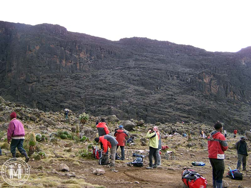 Die Great Barranco Wall am Kilimanjaro.