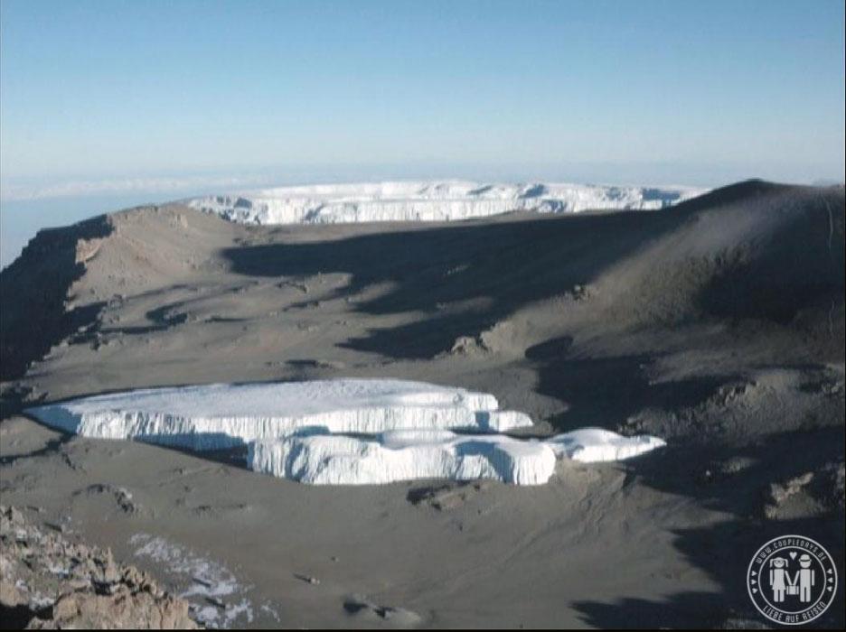 Der Krater des Kilimanjaro.