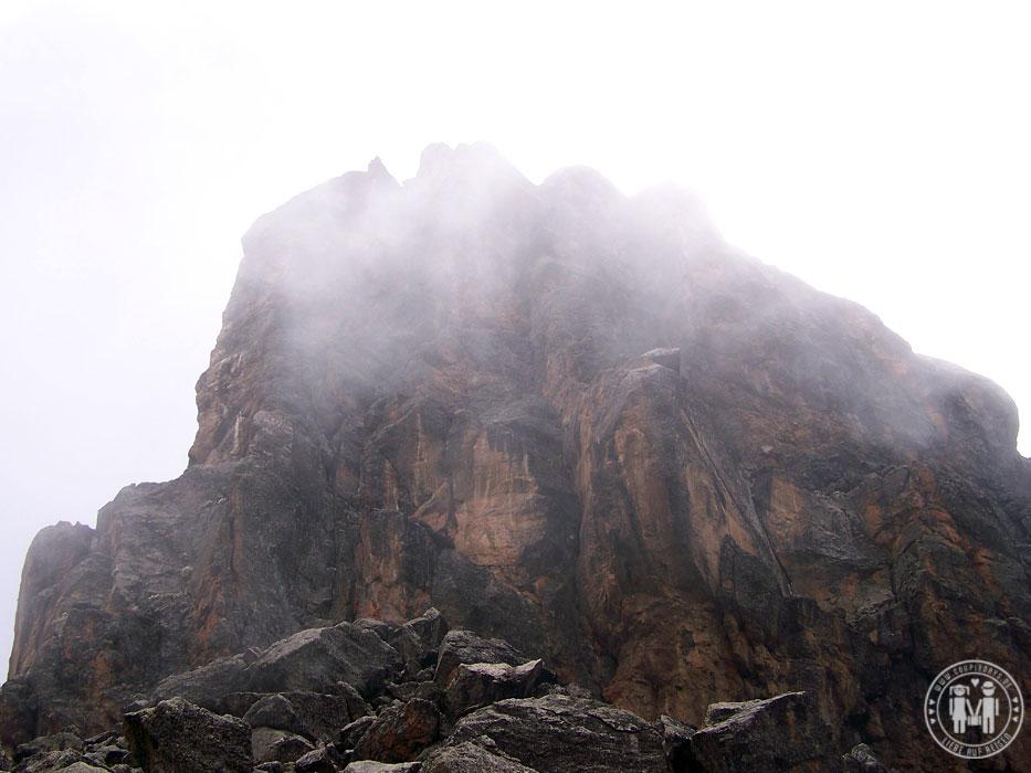 Der Lava Tower am Kilimanjaro.