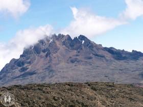 Der Mawenzi vom Barafu Camp aus gesehen.