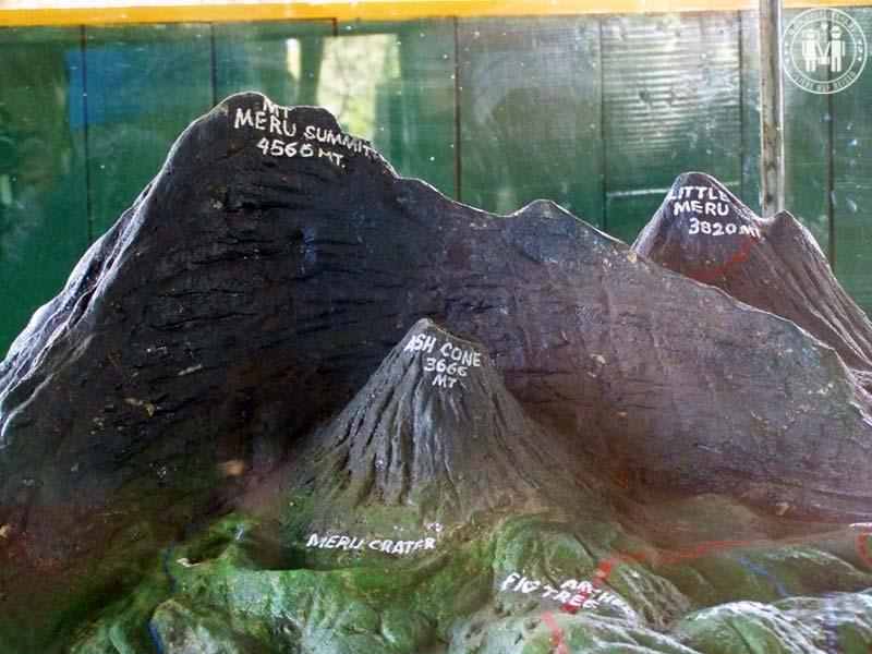Ein kleines Modell des Mount Meru.