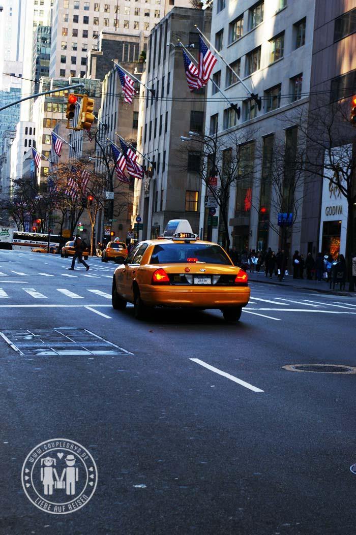 Taxis in New York, die berühmten Yellow Cabs.