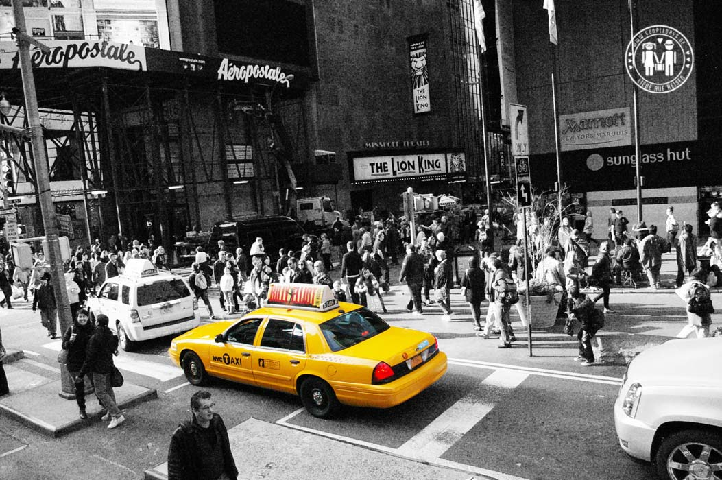 Yellow Cabs.