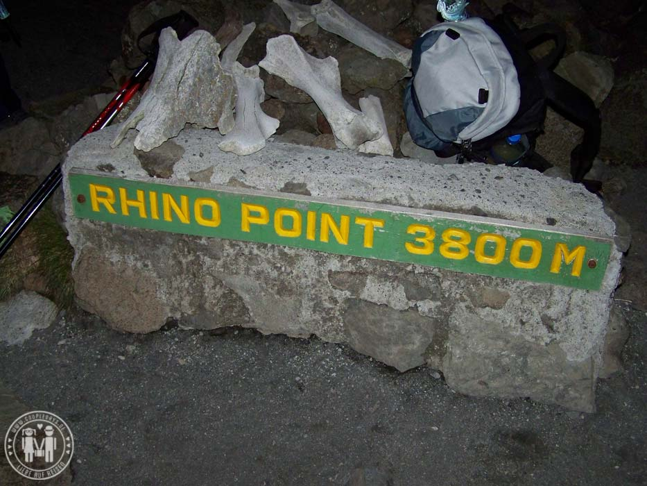 Der Rhino Point am Mount Meru.