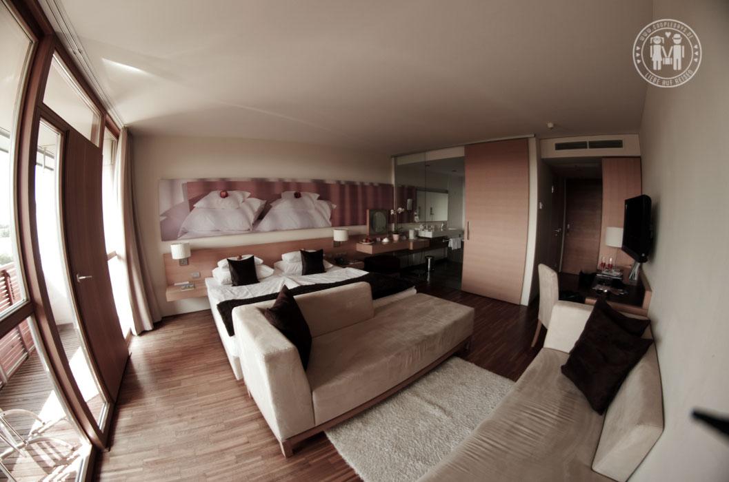 Unser Zimmer für's Wochenende in Setgersbach.