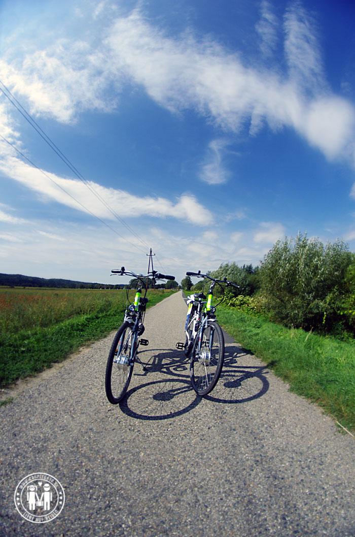 E-Bikes am Radweg